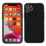 Matte Skin Soft Silicone Mobile Phone Shell for iPhone 11 Pro Max 6.5 inch – Black