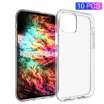 10Pcs/Pack Soft TPU Back Cover with Anti-watermark Inner for iPhone 12 Pro Max 6.7 inch