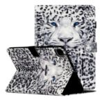Light Spot Decor Patterned PU Leather Stand Shell Tablet Case for iPad Pro 11-inch (2020)/(2018) – Scary Leopard