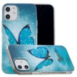 Noctilucent Patterned IMD TPU Case for iPhone 12 5.4 inch – Blue Butterfly