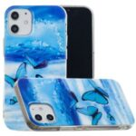 Noctilucent Patterned IMD TPU Back Case for iPhone 12 Max 6.1 inch – Butterflies Pattern