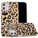 Marble Pattern Electroplating IMD TPU Phone Protection Case for iPhone 12 5.4 inch – Leopard