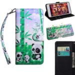 Light Spot Decor Patterned Leather Stand Case with Card Slots for iPhone 12 Pro Max 6.7 inch – Pandas