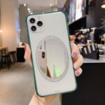 Makeup Mirror PC Shockproof Phone Cover for iPhone 11 Pro Max 6.5 inch – Green