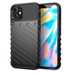 Thunder Series Twill Texture TPU Protector Shell for iPhone 12 5.4 inch – Black