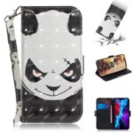Light Spot Decor Stylish Printing Wallet Case Stand Leather Cover for iPhone 12 Max/Pro 6.1 inch – Panda