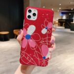 Flash Powder Pattern Printing TPU Case for iPhone 11 Pro 5.8 inch – Red Flower