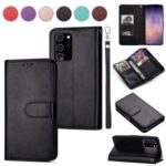 With 9 Card Slots Cell Phone Leather Case for Samsung Galaxy Note 20 – Black