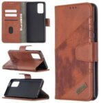 Crocodile Texture Assorted Color Leather Wallet Case for Samsung Galaxy Note 20 5G / Note 20 – Brown