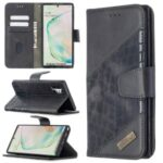 Assorted Color Crocodile Skin Leather Wallet Case for Samsung Galaxy Note 10 Plus / Note 10 Plus 5G – Black