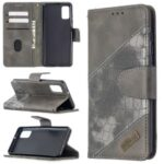 Crocodile Skin Assorted Color Style Leather Wallet Case for Samsung Galaxy A41 (Global Version) – Grey
