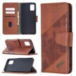 Crocodile Skin Assorted Color Style Leather Wallet Case for Samsung Galaxy A31 – Brown