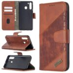 Crocodile Skin Assorted Color Style Leather Wallet Case for Samsung Galaxy A21 – Brown
