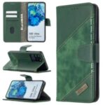Crocodile Skin Assorted Color Style Leather Wallet Case for Samsung Galaxy S20 Ultra – Green