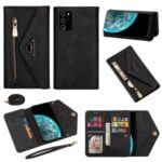 Zipper Cover Short/Long Strap for Samsung Galaxy Note20 Ultra/Note20 Ultra 5G – Black