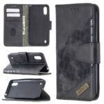 Crocodile Skin Assorted Color Leather Wallet Phone Cover for Samsung Galaxy A01 (European Version) – Black