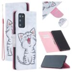 Pattern Printing Leather Wallet Case for Samsung Galaxy Note 20/Note 20 5G – Happy Cat