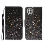 Pattern Printing Stand Shell Wallet Leather Case for Huawei P40 lite 4G / Nova 7i / Nova 6 SE – Glittery Element