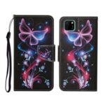 Pattern Printing Flip Leather Wallet Protective Case for Huawei Y5p/Honor 9S – Luminous Butterfly