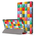Pattern Printing Tri-fold Stand Leather Smart Case for Huawei MatePad 10.8 – Colorful Checks