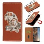 Pattern Printing Case Stand Stylish Leather Cover Shell for Huawei P smart 2020 – Dog