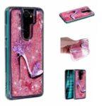 Pattern Printing Glitter Powder Quicksand TPU Protective Case for Xiaomi Redmi Note 8 Pro – High Heels
