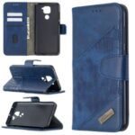 Crocodile Skin Assorted Color Style Leather Wallet Case for Xiaomi Redmi Note 9 / Redmi 10X 4G – Blue