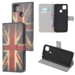 Pattern Printing Wallet Leather Stand Case for Xiaomi Redmi 9C – UK Flag