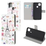 Pattern Printing Wallet Leather Stand Case for Xiaomi Redmi 9C – Eiffel Tower