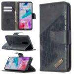 Crocodile Skin Assorted Color Cover Leather Wallet Case for Xiaomi Redmi 8 – Black