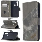 Crocodile Skin Assorted Color Leather Wallet Phone Cover for Xiaomi Redmi Note 8T – Grey