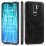 Crazy Horse Texture PU Leather Coated TPU Phone Shell for Xiaomi Redmi Note 8 Pro – Black