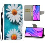 Pattern Printing Wallet Leather Stand Case for Xiaomi Redmi 9C – Daisy Flower