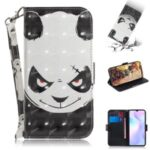 Pattern Printing Light Spot Decor Leather Wallet Casing with Lanyard for Xiaomi Redmi 9A – Panda