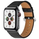 Genuine Leather Watch Band for Apple Watch Series 5/4 44mm / Series3/2/1 42mm – Black