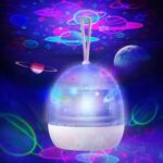 Rotatory Night Light Colorful Night Lamp USB Rechargeable LED Light – White
