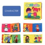 Tear-resistant Baby Soft Cloth Book Built-in Sound Paper Early Educational Toy – Character