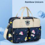 Large Capacity Diaper Bag Handbag Maternity Baby Stroller Mother Changing Bag – Rainbow Unicorn