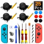 25 In 1 Joystick Replacement Parts Game Controller Repair Kit for Nintendo Switch Joy Con