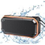 BT526 10W IPX7 Waterproof Bluetooth Speaker Built-in Mic Support TF Card/Aux-in – Orange