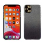 Gradient Color Glittery Powder PC+TPU Hybrid Case for iPhone 11 Pro Max 6.5 inch – Black