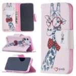 Hot Style Pattern Printing Cover Leather Wallet Case for iPhone 12 5.4 inch – Adorable Giraffe