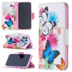 Pattern Printing Leather Wallet Protective Case for iPhone 12 Pro/12 Max 6.1 inch – Butterflies