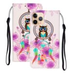 Embossed Patterned Wallet Flip Leather Case with Lanyard for iPhone 12 5.4 inch – Dream Catcher