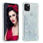 Pure Color Glitter Powder Quicksand TPU Case for iPhone 12 Pro Max 6.7 inch – Silver