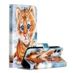 New Pattern Printing Leather Wallet Stand Phone Cover for iPhone 12 Pro/12 Max 6.1 inch – Little Tiger
