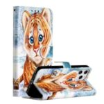 New Pattern Printing Leather Protector Wallet Stand Phone Case for iPhone 12 Pro Max 6.7 inch – Little Tiger