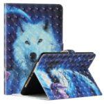 Light Spot Decor Pattern Printing Smart Leather Stand Protective Case for iPad 10.2 (2019) – White Wolf