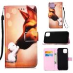 Pattern Printing with Wallet Leather Cover for iPhone 12 Max/12 Pro 6.1 inch – Fox