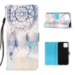 Pattern Printing PU Leather Cover Wallet Cell Phone Case with Strap for iPhone 12 Max/Pro 6.1 inch – Feather Dream Catcher
